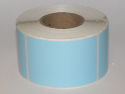 "Thermal Visitor Labels 2"" x 3"" Blue"