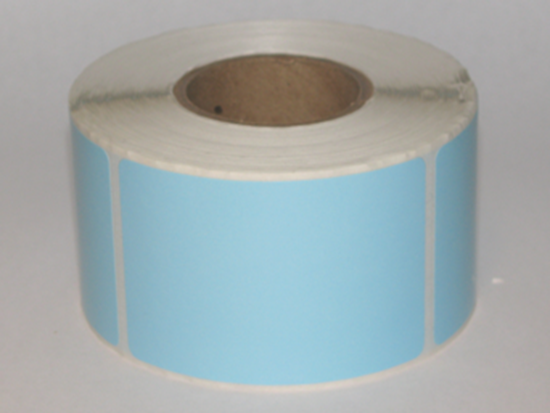 """Thermal Visitor Labels 2"""" x 3"""" Blue"""