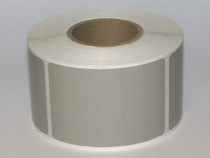 """Thermal Visitor Labels 2"""" x 3"""" Grey"""