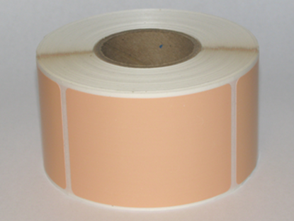 "Thermal Visitor Labels 2"" x 3"" Peach"