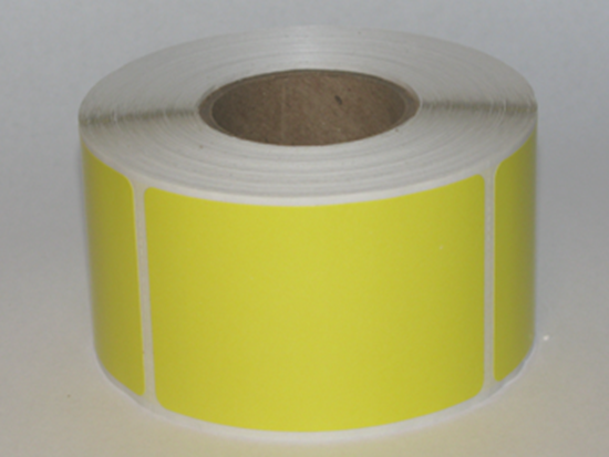 """Thermal Visitor Labels 2"""" x 3"""" Yellow"""
