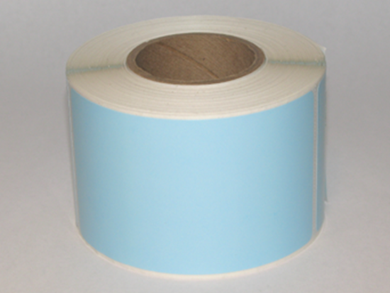 """Thermal Visitor Labels 2 1/4"""" x 4"""" Blue"""