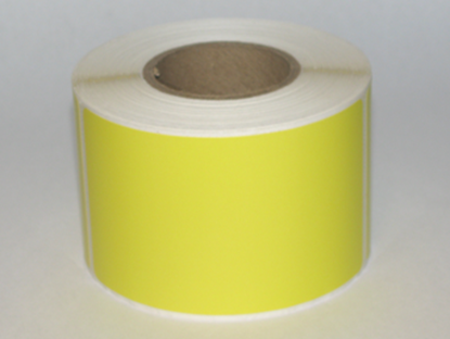 """Thermal Visitor Labels 2 1/4"""" x 4"""" Yellow"""